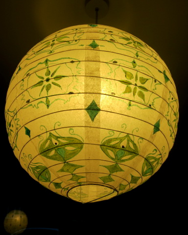 DIY paper lantern decoration